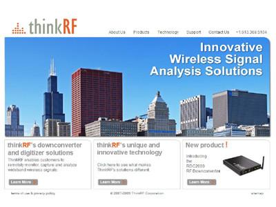 thinkRF website