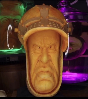 ButterKnight Squash of the house Starch Carved LIVE on episode 5 of Carvers and