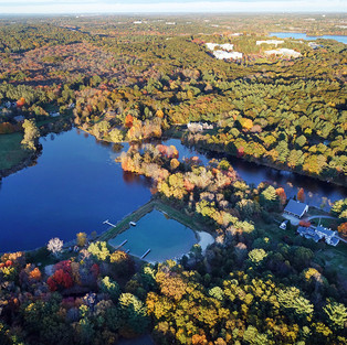 Another aerial view of Valley Pond. (Photo by Philip Greenspun)