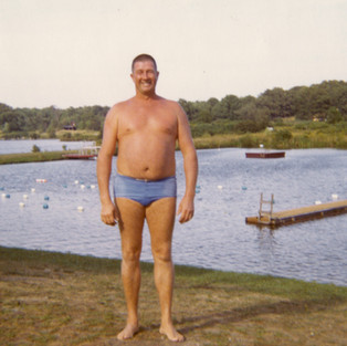 Bill Wentworth, a Navy veteran and Valley Pond's first lifeguard and swimming instructor. (Photo by Lisa Freed)