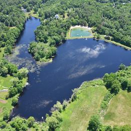 Valley Pond from the air. (Photo by Tony Cammarata, aerialboston.com)