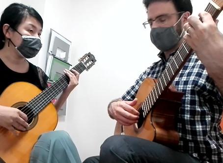 "Yuki and Carl play ""Ständchen"" by Schubert (guitar duet)"