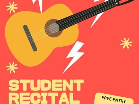 TAGA Student Recital: September 26th