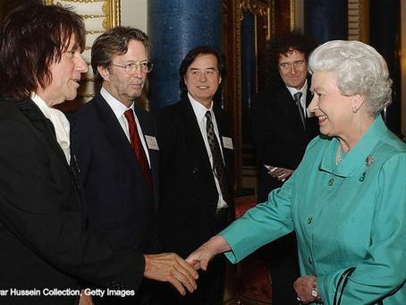 When the Queen met rock royalty...