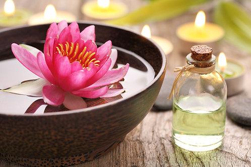 Huile de Massage Végétale, senteur FLEUR DE LOTUS- 500 ml