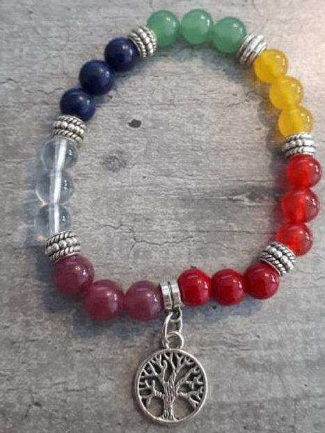 Bracelet 7 chakras - Spécial Arbre de vie