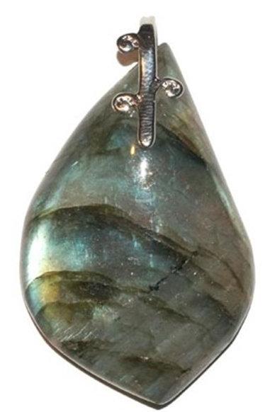 Labradorite - pendentif cabochon - forme libre