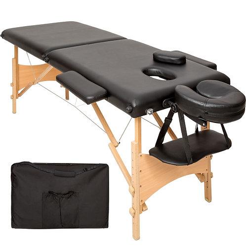 Table de massage pliante 2 Zones Bois 61 cm, NOIRE