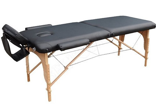 Table de massage pliante 2 Zones Bois 70 cm,  NOIRE