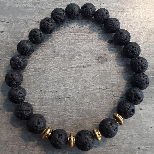 Bracelet Pierre de Lave - RECONSTRUCTION