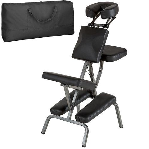 Chaise de massage, avec rembourrage épais, sac de transport - Noir