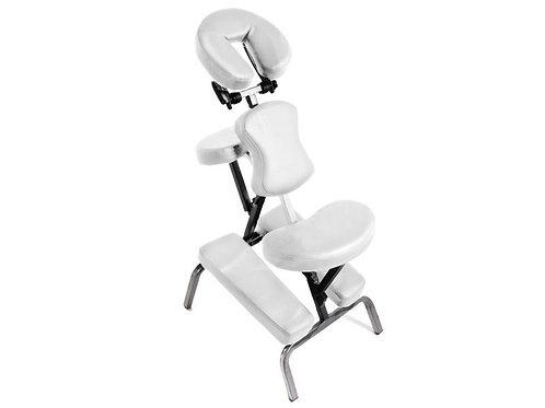 Chaise de massage, avec rembourrage épais, sac de transport - Blanc
