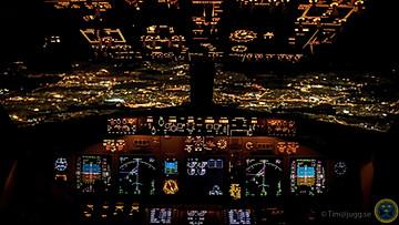 SAS boeing 737 Cockpit