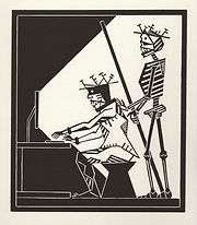 engraving, eduardo, lara, danse macabre, dance of death, artist, pritnmaking, grabado, It, i.T., technology, informatico, computer, systems