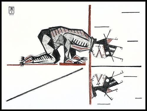Eduardo Lara, drawing, blind man, death, charcoal, sanguine, artist, narkissos