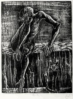 death woodcut eduardo lara artist