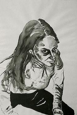 Verónica Ink on paper 112 x 76 cm 2002 eduardo lara drawing