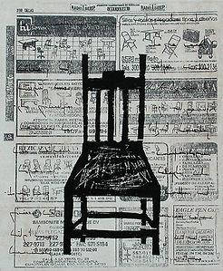 Element of ContemplationI Litography, etching and woodcut 26.5 x 22 cm 2001 eduardo lara artist printmaking