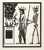 engraving, eduardo, lara, danse macabre, dance of death, artist, pritnmaking, grabado, cook