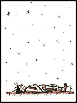 Blind man imagining dark stars, drawing, eduardo lara artist, Eduardo Lara, drawing, blind man, death, charcoal, sanguine, artist
