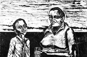 memories of the underdevelopment, woodcut eduardo lara