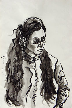 Zoe Ink on paper 112 x 76 cm 2002 eduardo lara drawing