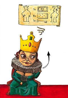The Evil Queen Gouache on paper 2013, eduardo lara illustration