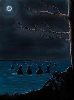 Joško and The Deers Gouache on paper 2013 eduardo lara illustration