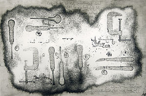 tools, smatography etching