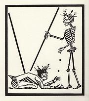 engraving, eduardo, lara, danse macabre, dance of death, artist, pritnmaking, grabado, beggar, mendigo, coins