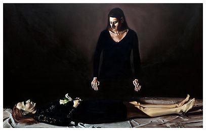 eduardo, lara, painting, doubles, twins, doppelganger, artist, art, repetition, couples, double, death, dead, watching