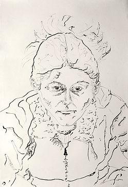 Paulina Ink on paper 112 x 76 cm 2002 eduardo lara drawing