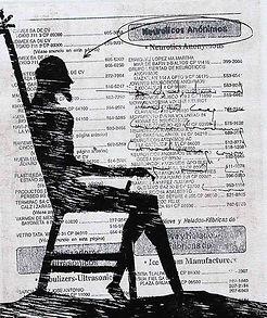Contemplation X Litography, etching and woodcut 26.5 x 22 cm 2001 eduardo lara artist printmaking