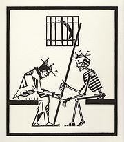 engraving, eduardo, lara, danse macabre, dance of death, artist, pritnmaking, grabado, prisionero, prisoner, prison, jail