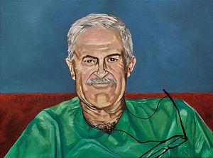 portrait of doctor feliz san juan, oil painting