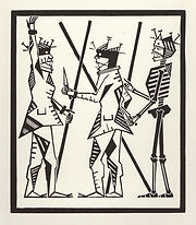 engraving, eduardo, lara, danse macabre, dance of death, artist, pritnmaking, grabado, thief, victim, robbery,