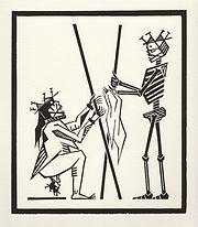 engraving, eduardo, lara, danse macabre, dance of death, artist, pritnmaking, grabado, woman, in, labour, labor, birth, childbirth