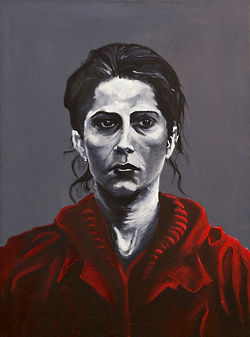portrait of an unknown woman, oil painting