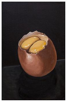 eduardo, lara, painting, doubles, twins, doppelganger, artist, art, repetition, couples, double, yolk, egg