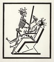 engraving, eduardo, lara, danse macabre, dance of death, artist, pritnmaking, grabado, dentist