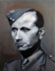 Study of Jozef Gabčík (The Slovak) Oil on canvas