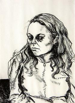 Mariana Charcoal on paper 76 x 56cm 2002 eduardo lara drawing