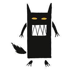 the ferocious wolf gouache on paper eduardo lara illustration