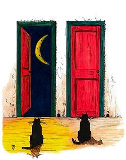 Conrad The Cat Gouache on paper 2013 eduardo lara illustration