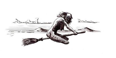 Baba Yaga Gouache on paper 2013 eduardo lara illustration
