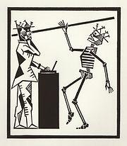 engraving, eduardo, lara, danse macabre, dance of death, artist, pritnmaking, grabado, dj, disc, jockey, music