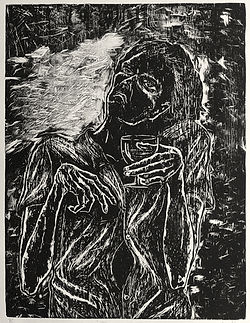 delirium tremens alcoholic drinker eduardo lara artist woodcut
