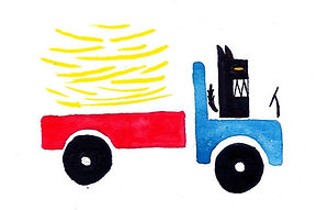 Delivery Gouache on paper 2013 eduardo lara illustration