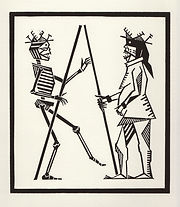 engraving, eduardo, lara, danse macabre, dance of death, artist, pritnmaking, grabado, pregnant, pregnancy
