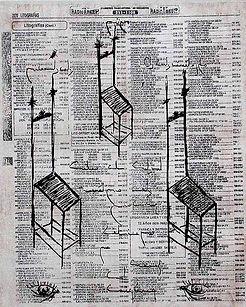 Element of Contemplation III Litography and etching 26.5 x 22 cm 2001 eduardo lara artist printmaking